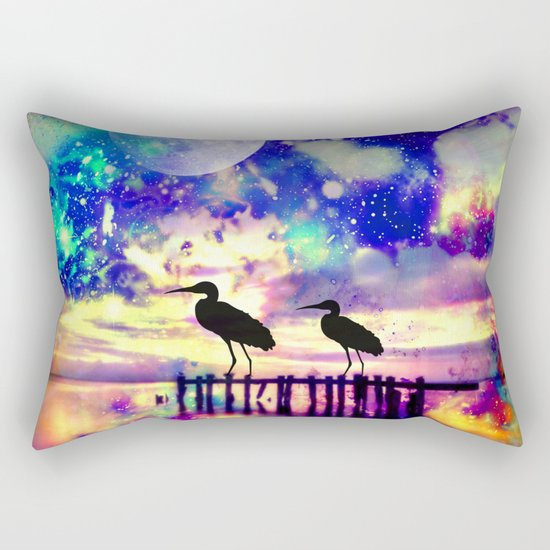 dream lake Rectangular Pillow