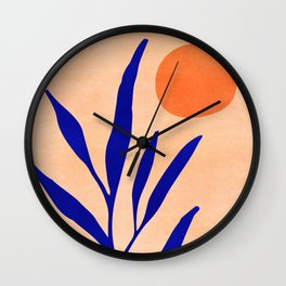 Golden Afternoon II / Abstract Landscape Wall Clock