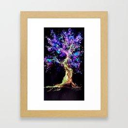 Wild Neon Apple Tree Watercolor by CheyAnne Sexton Framed Art Print