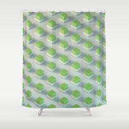 Energy Cubes Shower Curtain