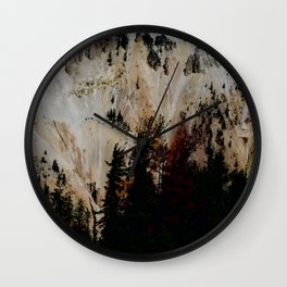 Yellowstone National Park Mountain Range Wall Clock