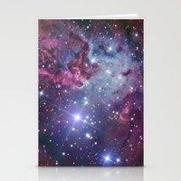 nebula Stationery Cards featuring Nebula Galaxy by RexLambo