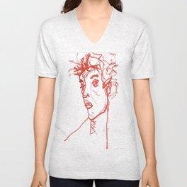 inspired in Egon Schiele 02 Unisex V-Neck