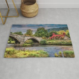 Llanrwst Bridge and Tea Room Rug