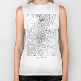Austin White Map Biker Tank