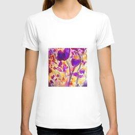 Poppies - Purple Watercolour T-shirt