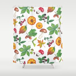 Autumn Forest Colours Shower Curtain