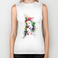 marylin monroe Biker Tanks featuring Monroe. by David