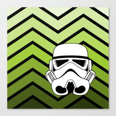 Stormtrooper on Pea Green Ombre Canvas Print
