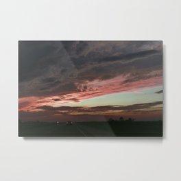 Pink Sunset, Macomb IL Metal Print
