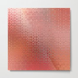 Trinity Pattern (sunset orange) Metal Print