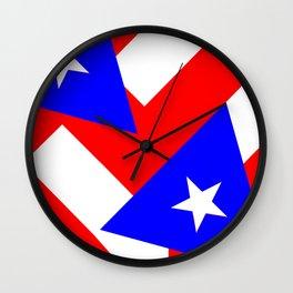 PR Pride Collage Wall Clock