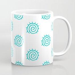 Aqua Spiral Abstract Pattern Coffee Mug