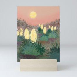 Succulents in twilight Mini Art Print
