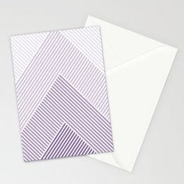 Shades of Purple Abstract geometric pattern Stationery Cards