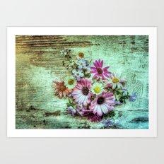 Floored Flowers Art Print
