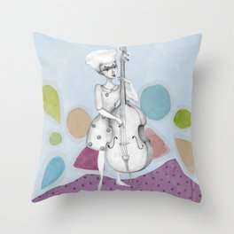 I bass play a song for you Throw Pillow