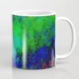 Awaken - Blue, green, abstract, textured painting Coffee Mug