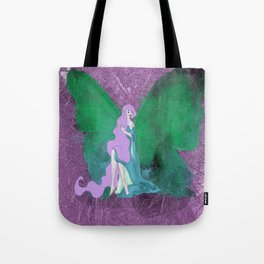 Green Butterfly Fairy Tote Bag