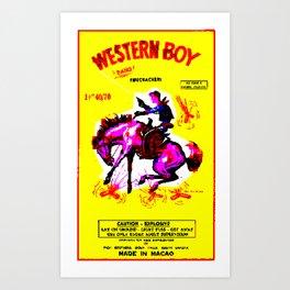 Western Boy Art Print