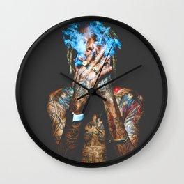 Night club smoke Dope Wall Clock