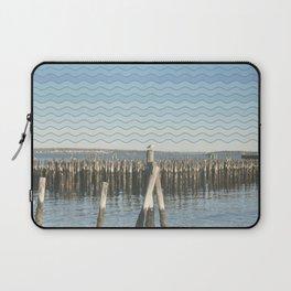 Wavy Sea Gulls Laptop Sleeve