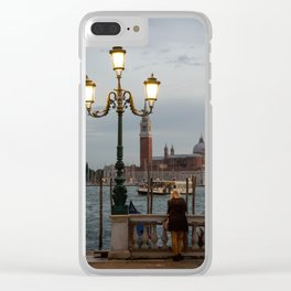 Venice at night Clear iPhone Case