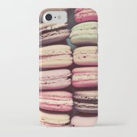macarons iPhone & iPod Cases featuring Macarons by elle moss