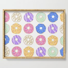 Colorful Donuts Illustration Serving Tray