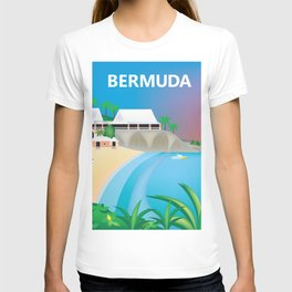 Bermuda - Skyline Illustration by Loose Petals T-shirt