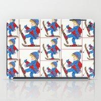 ski iPad Cases featuring Ski Boy by iCraftCafé