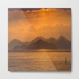 Sundown in Cannes Metal Print