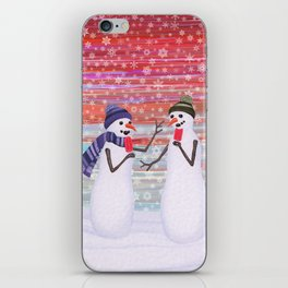 snowmen with popsicles iPhone Skin