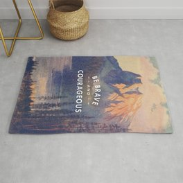 Be Brave and Courageous Rug