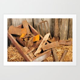 Rusted tools Art Print