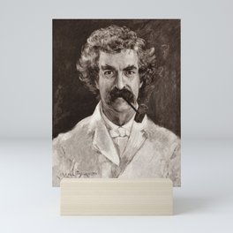 Mark Twain Engraved Portrait Mini Art Print
