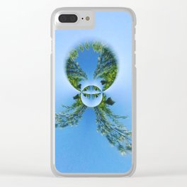 blue green planet bug Clear iPhone Case