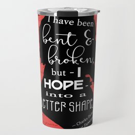 Into a Better Shape - Dickens (Red) Travel Mug