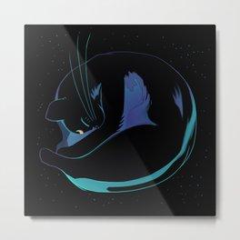 Sleeping MoonCat (fluorescent variant) Metal Print