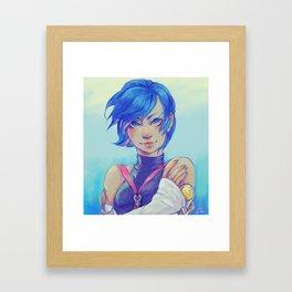 Aqua Fan art Framed Art Print