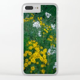Flowers On the Edge Clear iPhone Case