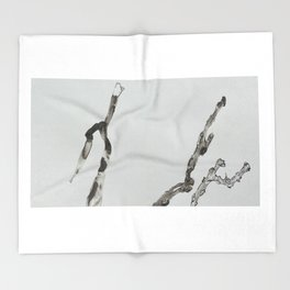 DETERIORATION OF A TWIG Throw Blanket