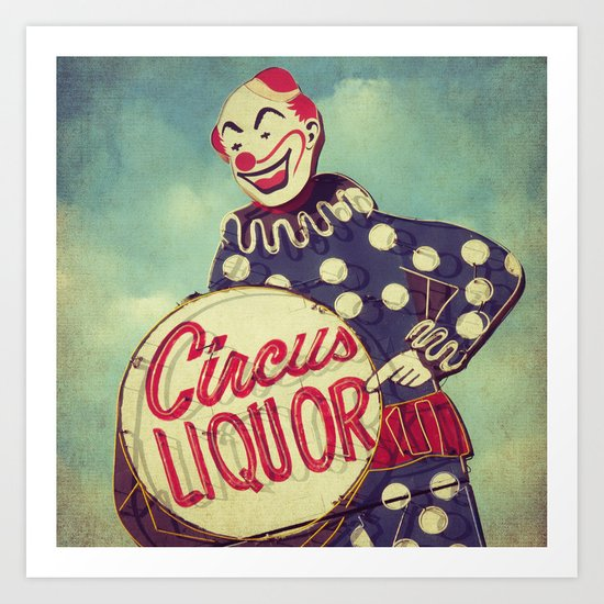 Circus Liquor, N. Hollywood, CA. Art Print