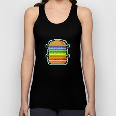 Pixel Hamburger Unisex Tank Top