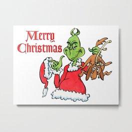 christmas grinch Metal Print