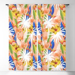Expression & Purity #botanical #pattern Blackout Curtain