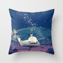Helicopter flight Throw Pillow