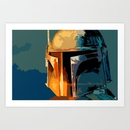 Boba Fett Mandalorian Bounty Hunter Sci Fi Movie Home décor Film Space Pop Art Art Print