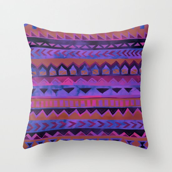 PATTERN {Tribal Stripe- Purple} Throw Pillow