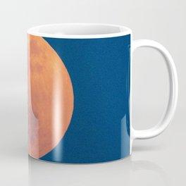 Red Moon, Moon, Blue Sky And Orange Coffee Mug